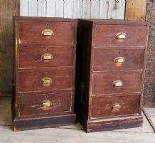 Ex bank cabinets with draws - sold